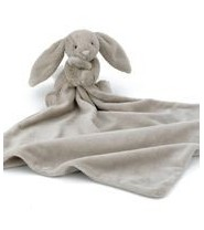 Doudou lapin câlin beige